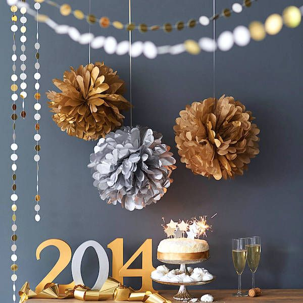 Gold Silver Decor - New years or Christmas