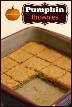 Pumpkin Brownies! A fall inspired twist on your classic chocolate brownie.
