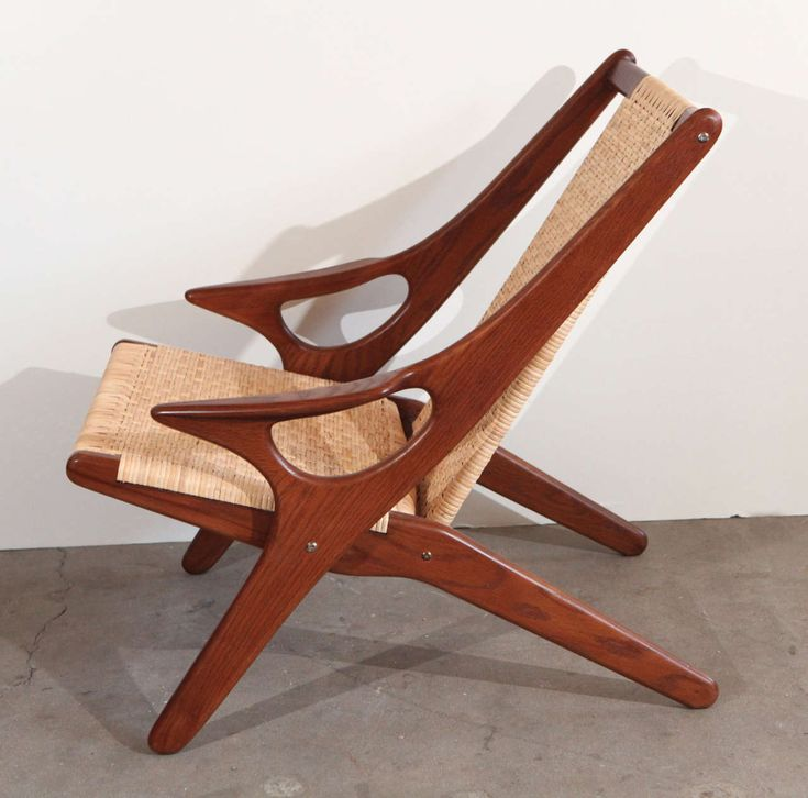 Arne Hovmand Olsen Teak And Wicker Armchair From A