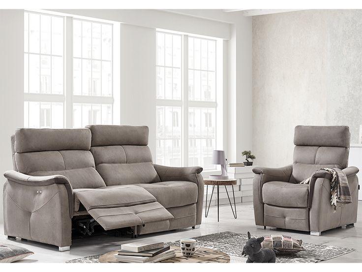 Sofá relax de 3 y 2 plazas modelo Massimo fabricado por Acomodel en Sofassinfin.es