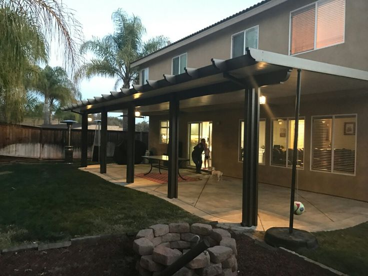 Charming Solid Two Tone Aluminum Patio Insulated Top | Aluminum Patio Covers |  Pinterest | Patios, Backyard And Pergolas