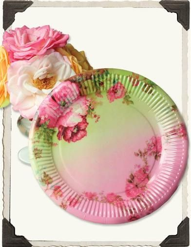Cottage Perennials Paper Plates Victorian Trading Co. & 14 best Victorian Style images on Pinterest | Paper plates ...