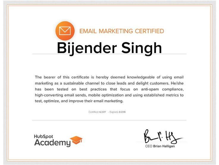 #emailmarketing #email #hubspot #certified #certification #digitalmarketing #bijenderdigital