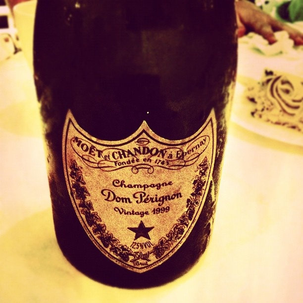 vintage dom perignon on a sunday evening... living it! - @desmondteh- #webstagram #domperignon #vintage