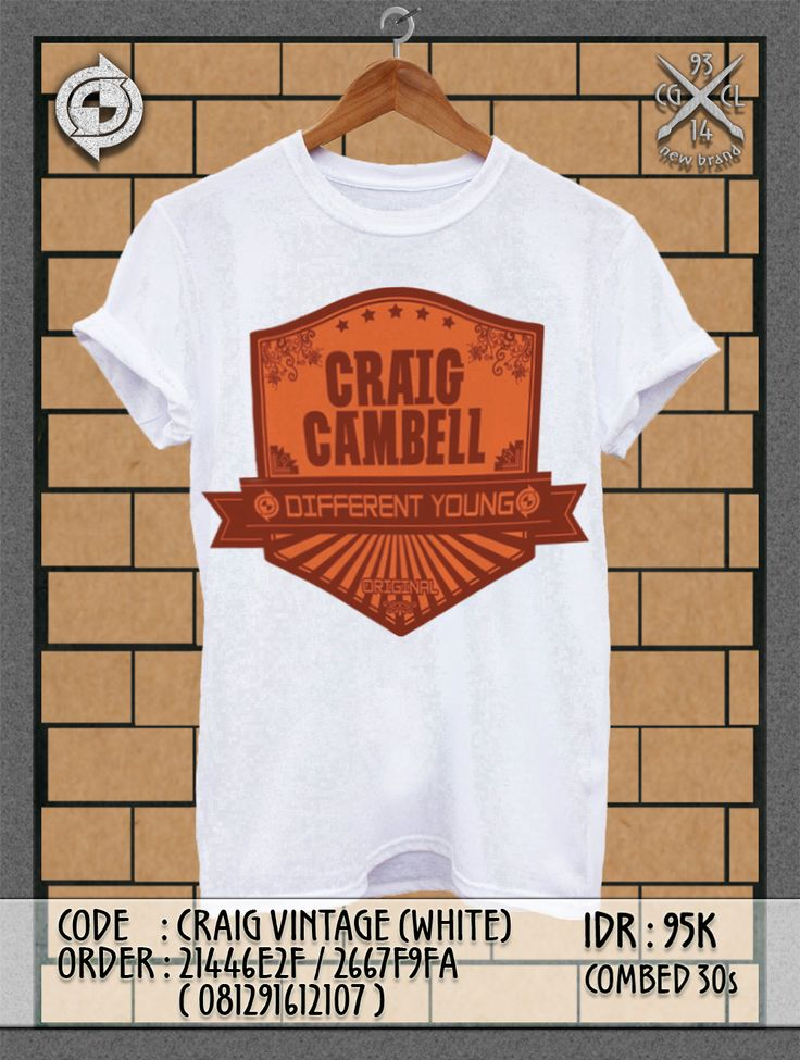 Code: Craig VINTAGE #PromoEdition | IDR: 95K | Grab it fast!!! ;)