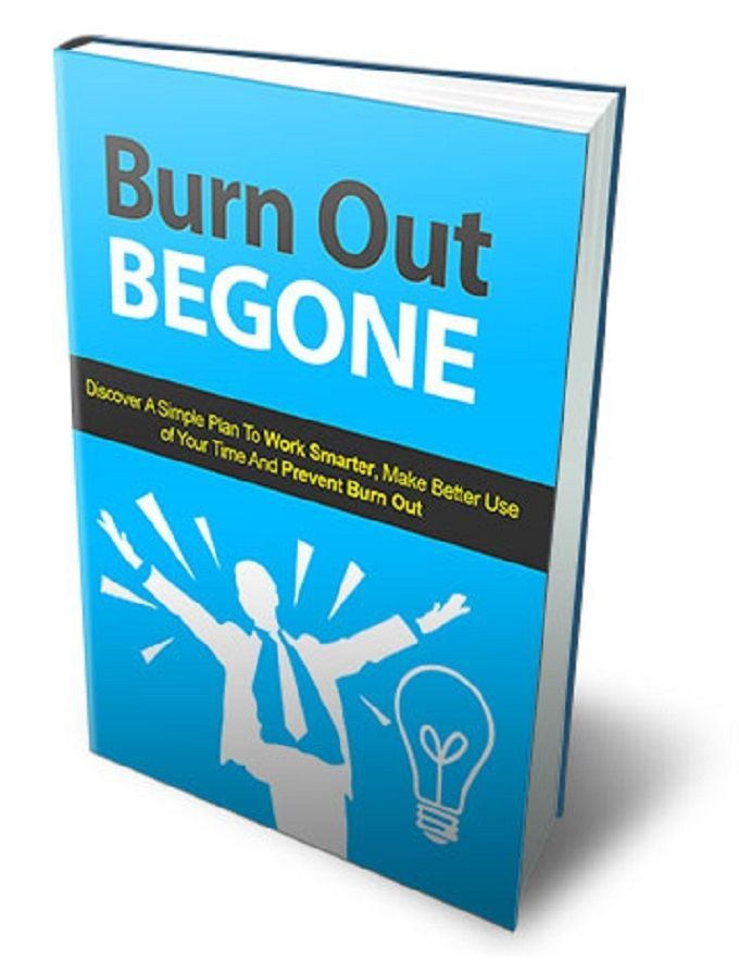 Burn Out ---BE GONE    book---CD