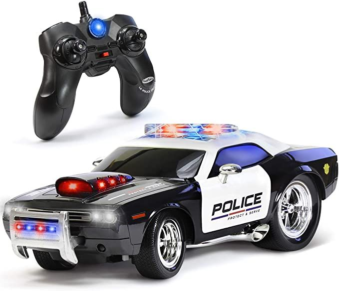 Amazon Com Kidirace Remote Control Police Car Toy With Lights And Sirens For Boys Rechargeable Cop Car Dur Remote Control Cars Kids Police Car Police Cars
