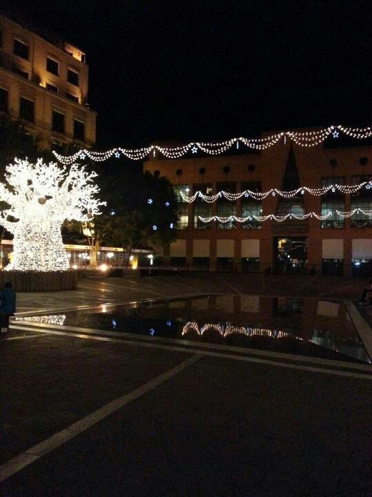 Mandela Square with all its lights at Christmas 2012