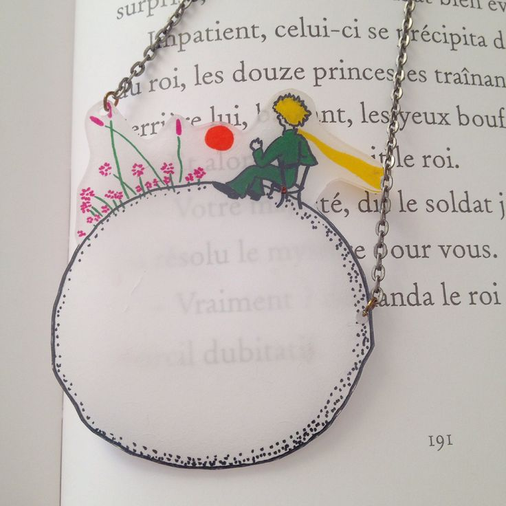 collier plastique fou Petit Prince