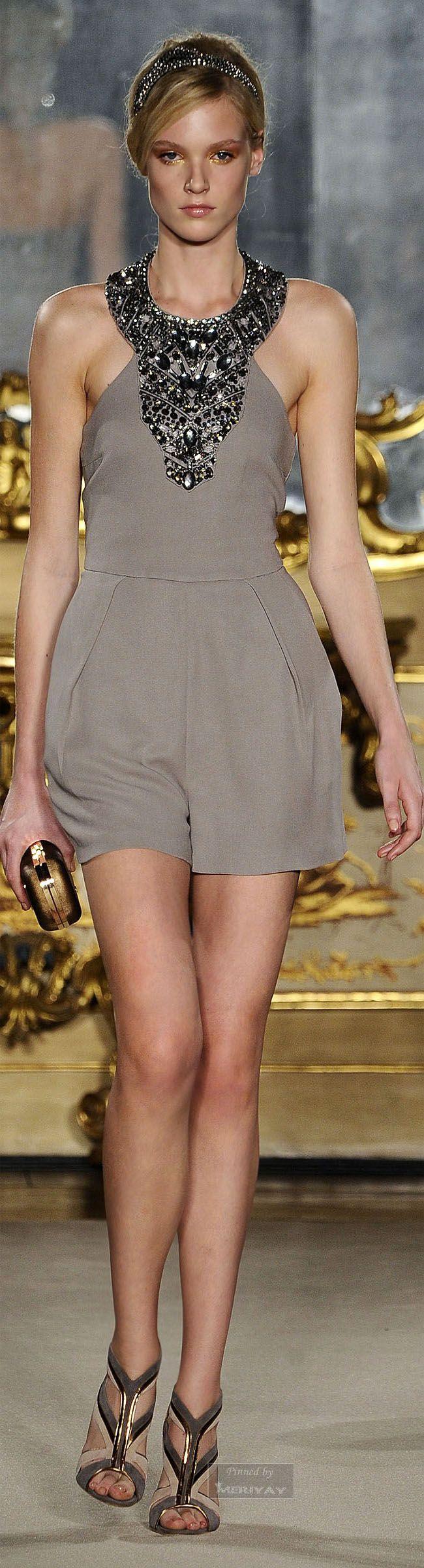 Sparkling, short and extremely elegant - I might consider something similar for Silvester! ☺ -Elisabetta Franchi Spring 2015-