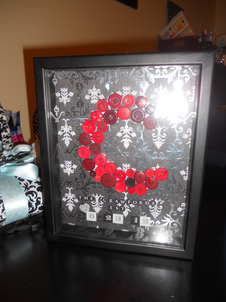 Wedding Gift Shadow Box : wedding gift from rachel davidson a black and silver damask shadow box ...