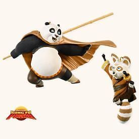 HALLMARK 2008 PO AND SHIFU KUNG FU PANDA  #HallmarkOrnament