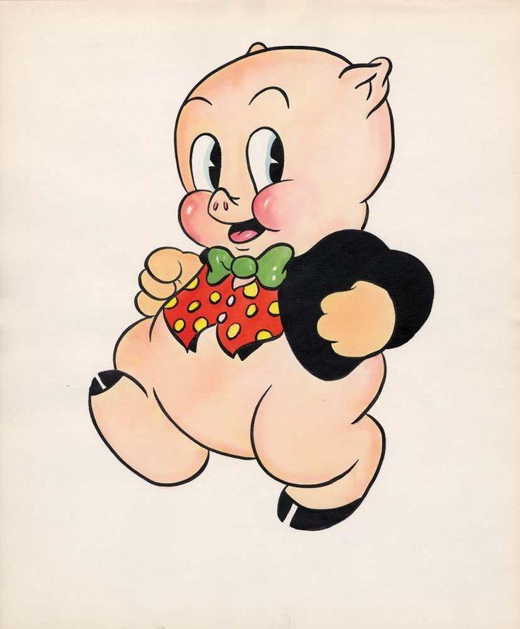 Porky Pig fan card original color illustration