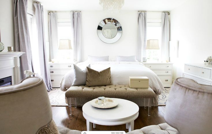 Moth design gorgeous bedroom with mirrored tiles mirror for Christine huve interior designs