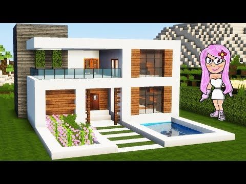 M s de 25 ideas incre bles sobre casas minecraft en for Casa moderna tutorial facil de hacer