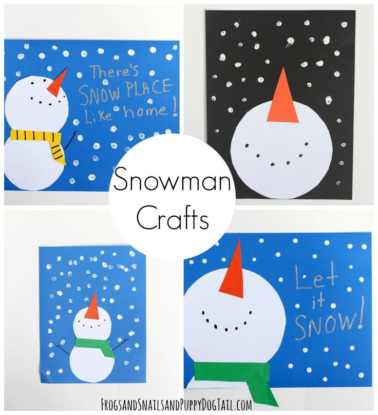 snowman crafts for kids. fun and easy crafts to celebrate winter.