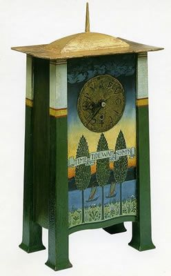 Voysey clock,Time & Tide Wait for No Man designed in 1895(Christopher Vickers,2017)