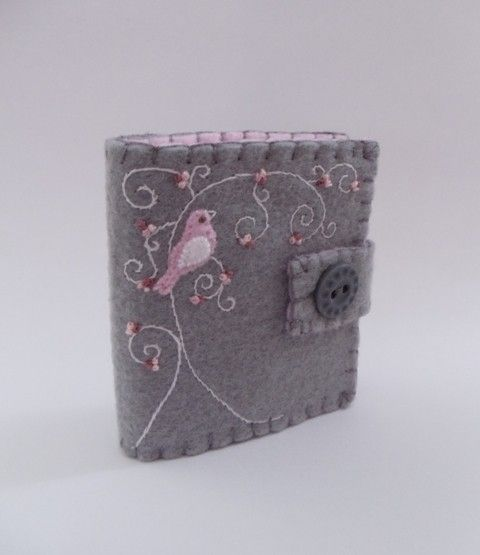 felt needle book - Bible cover?  Decorative journal?  Idea notebook?  So many possiblities!