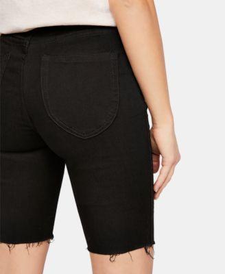 So-Chic Denim Biker Shorts