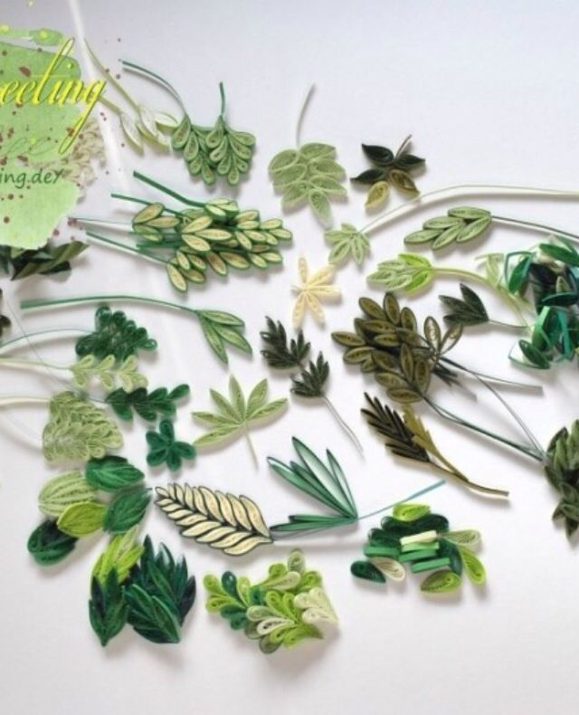 Assorted Leaves - quilled by: Unknown Artist                                                                                                                                                     More