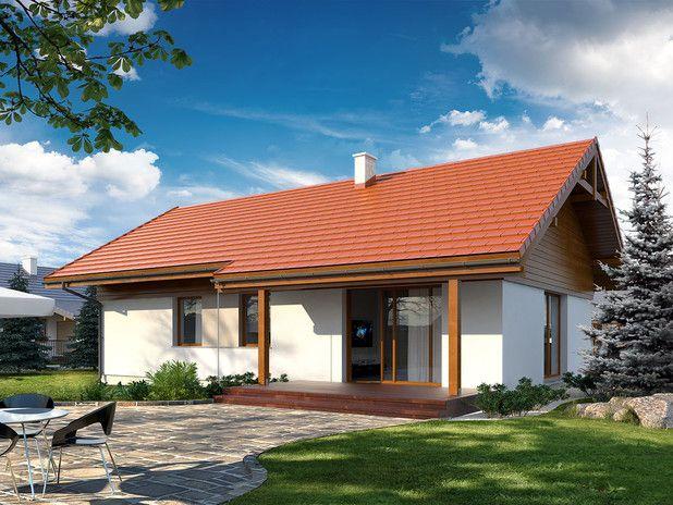 Niewielki jednorodzinny budynek mieszkalny, parterowy, niepodpiwniczony z dwustanowiskowym garażem. W swojej niewielkiej formie zawarł wygodny i optymalny układ pomieszczeń, który zapewni komfort 4-osobowej rodzinie.