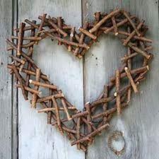 Coração de gravetos