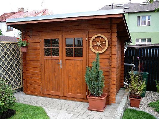 Zahradní domek Robin 250x200 Ekonomik, dvoukřídlé dveře, oplechování střechy, okapové žlaby, svody - pozink