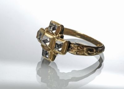 Ring - with diamond, Europe, ca.16th century.                                                                                                                                                                                 More