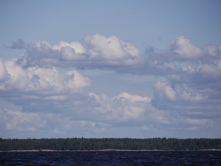 A view over old Finland near by Vyborg. Sailing under nice conditions towards the Saimaa channel.