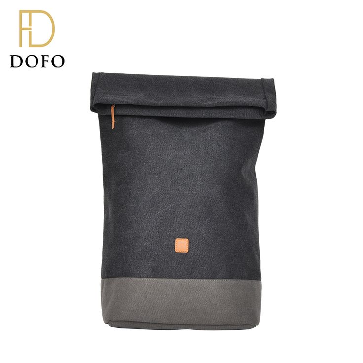 Fashion design lightweight foldable waterproof canvas backpack