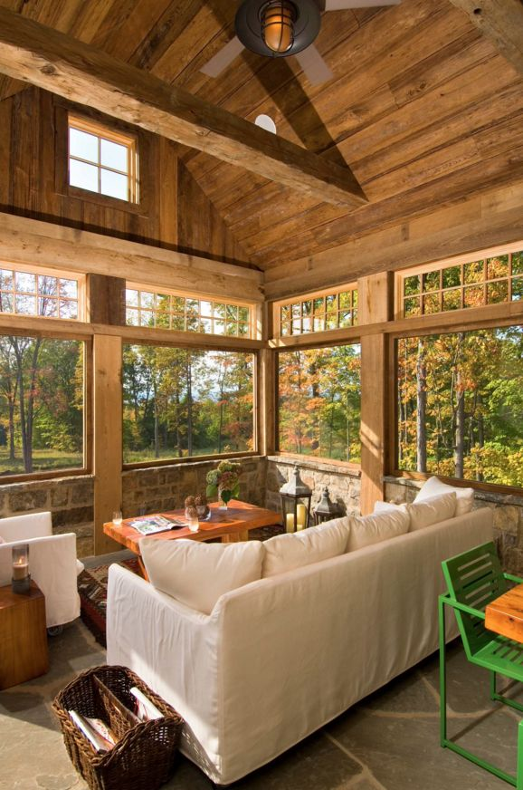 Rustic Sunroom                                                                                                                                                      More