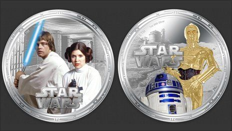 Luke Skywalker, Princess Leia and Yoda are among Star Wars characters who will appear on coins that will be legal tender in the Pacific island of Niue.