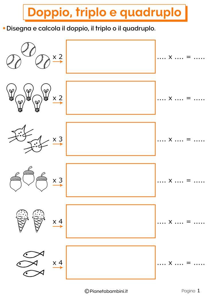 Doppio, Triplo e Quadruplo: Esercizi per la Scuola ...