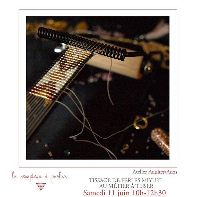 ATELIERS - Vous aussi laissez-vous emporter par la folie du #tissage de perles #Miyuki et confectionnez-vous un bracelet de #squaw à porter tout l'été! Rendez-vous la semaine prochaine samedi 11 juin pour apprendre la technique du métier à tisser ;) Tout le programme et réservations: suivre le lien dans la bio! #lecomptoiraperles #perles #beads #perlesMiyuki #Miyukibeads #Miyukiaddict #loom #beadloom #atelier #workshop #beading #handmade #handmadejewelry #fashion #couleurs #colors #paris…
