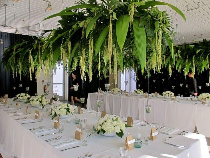 hanging flowers, inside rainforest