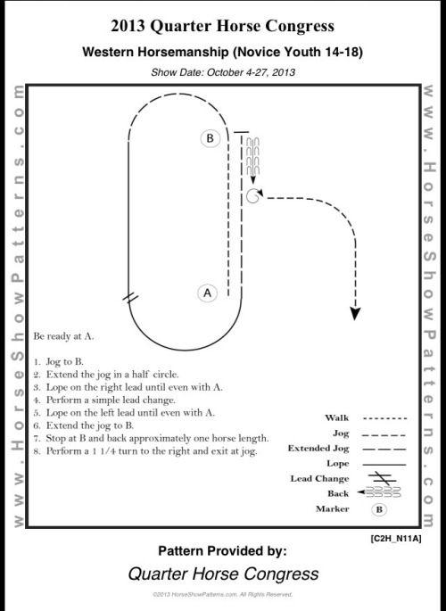 Western Horsemanship Novice Youth 14-18