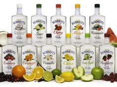 "The Burnett's Vodka website has delicious recipes for all their drinks! ""Sugar Cookie"" and ""Vanilla"" look really good."
