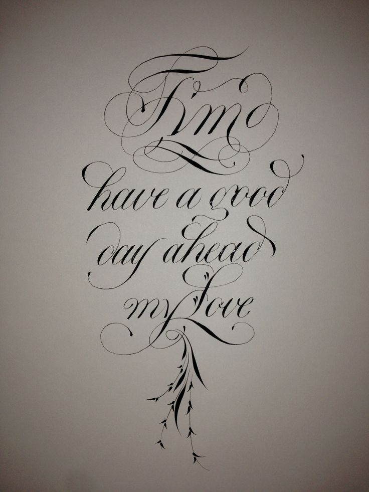 Beautiful Copperplate Script Calligraphy For Everyday