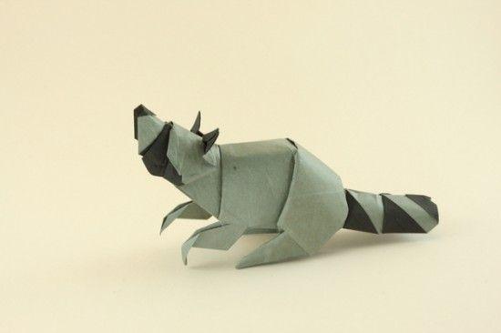 Raton Laveur Origami
