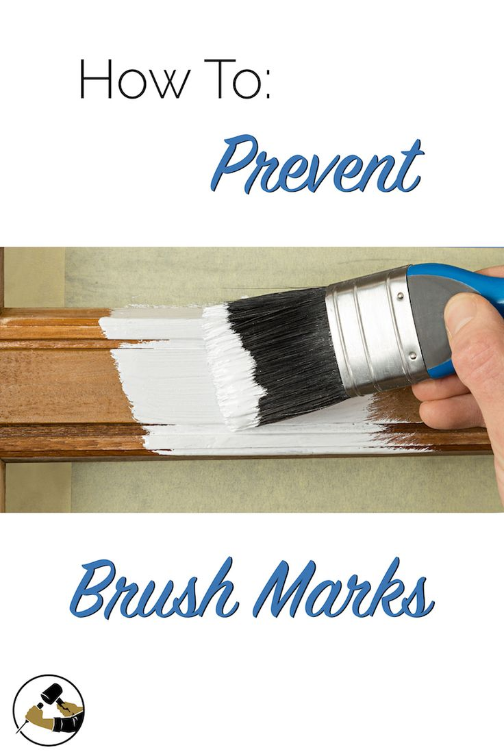 hight resolution of how to prevent brush marks