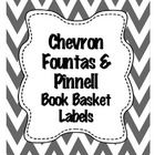 Chevron Fountas & Pinnell level Book Basket Labels  *24 Labels  *Levels A-Z ...