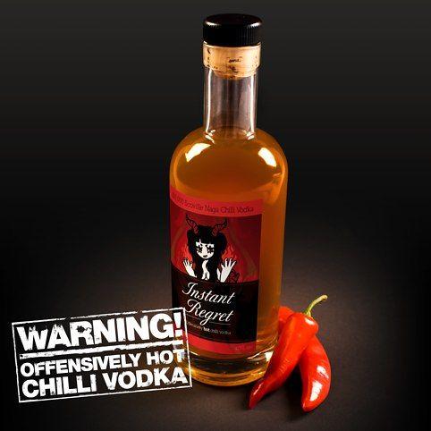 Instant Regret Naga Chilli Vodka from Firebox.com
