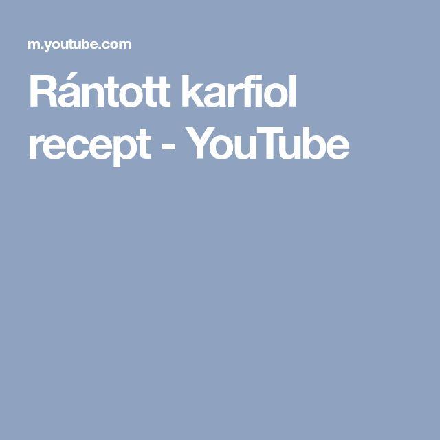 Rántott karfiol recept - YouTube