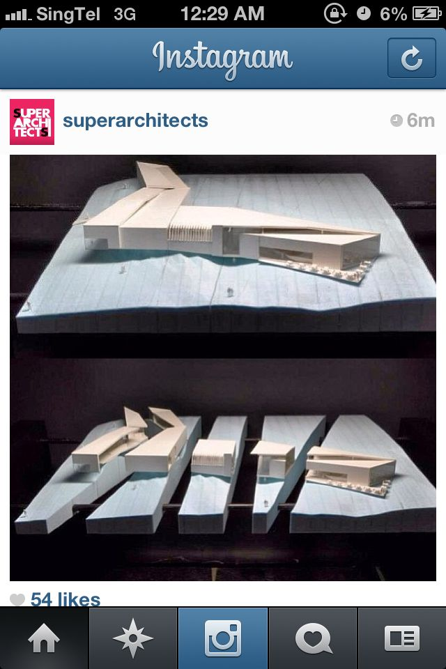 Architecture model extra: Creative idea of showing a section cut.