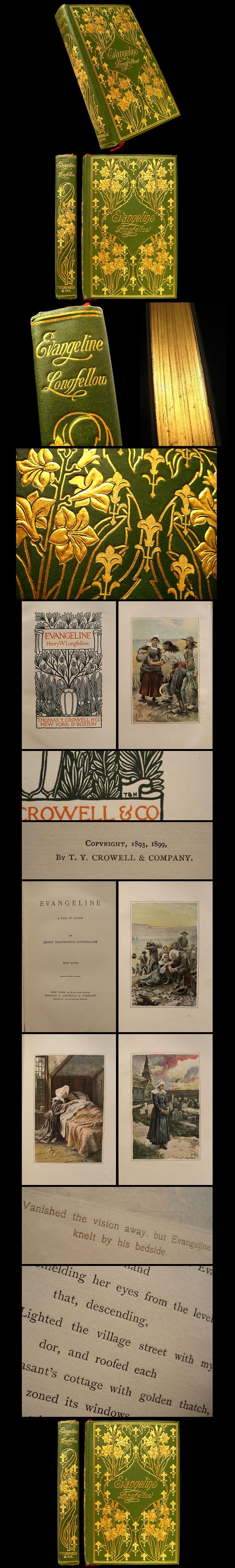 1899 Evangeline by Henry Wadsworth Longfellow - Art Nouveau Fine Binding