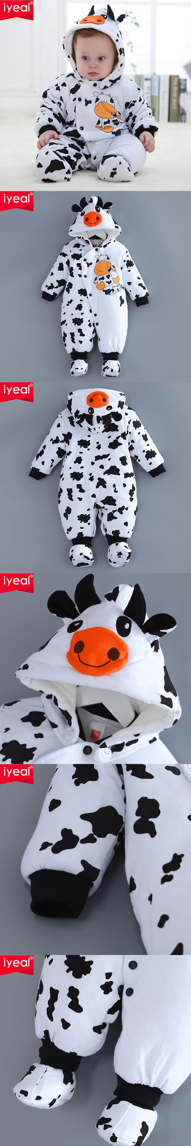 Newborn Baby Girl Boy Winter Clothes Baby Rompers Cotton Overalls For Kids Roupa Bebes Cow Baby Costume Clothing $32.99