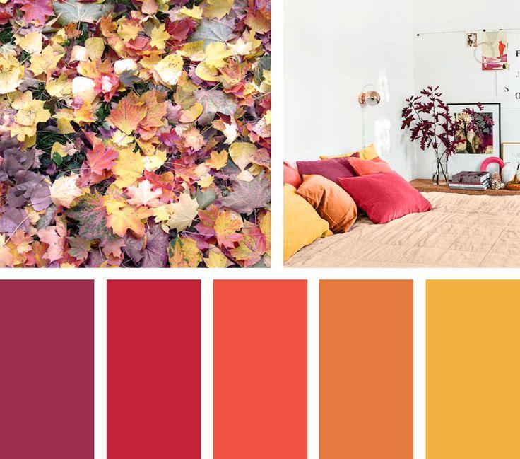 El otoño es una época de colores cálidos a pesar de que sus días son fríos, esto le da a la temporada una sensación acogedora muy agradable. ¡Disfruta de esta rica paleta de colores!  Espacio Vía: lemons