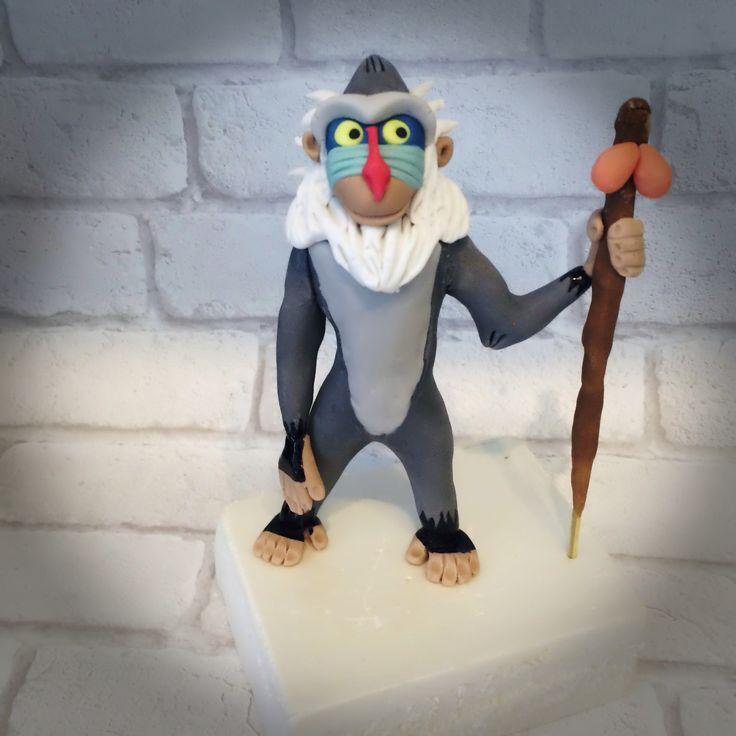 Rafiki (le roi lion) en pâte à sucre