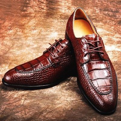 alligator skin roundtoe laceup oxford casual dress shoes