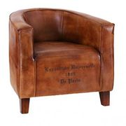Besp-Oak Leather Bucket Chair The Leather Bucket chair is a striking piece of quality furniture that will grace any living room, hall or study. The fully assembled, leather chair features a vintage style curved back, traditional s http://www.MightGet.com/march-2017-1/besp-oak-leather-bucket-chair.asp